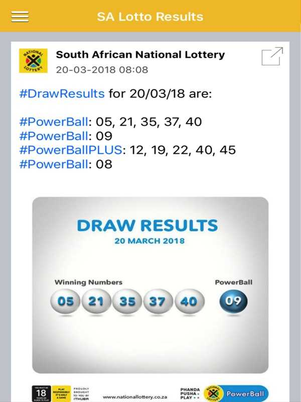 Lotto plus 1 results & prizes - south africa