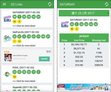 Australia lørdag lotto resultater