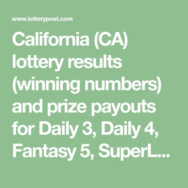 Калифорнийская лотерея fantasy 5 (5 из 39)