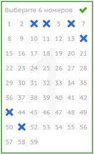 Amerikansk powerball lotteri (5 из 69 + 1 av 26)