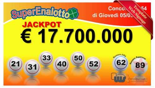 Buy superenalotto tickets online