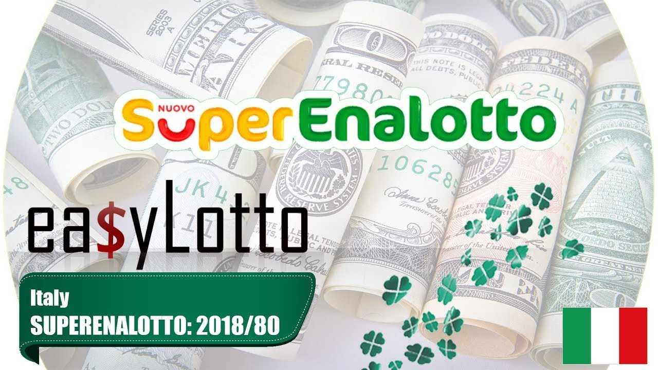 Superenalotto resultater - offisielle superenalotto-vinnertall
