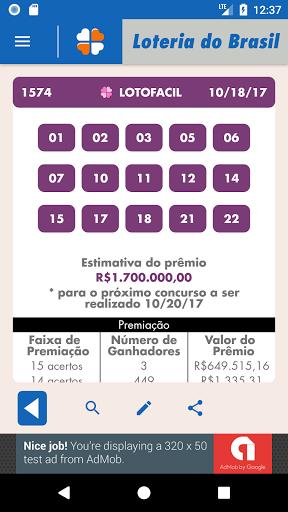 Loterie brésilienne Lotofacil