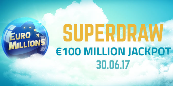 Euromillions superdraws - guaranteed nine-figure jackpots