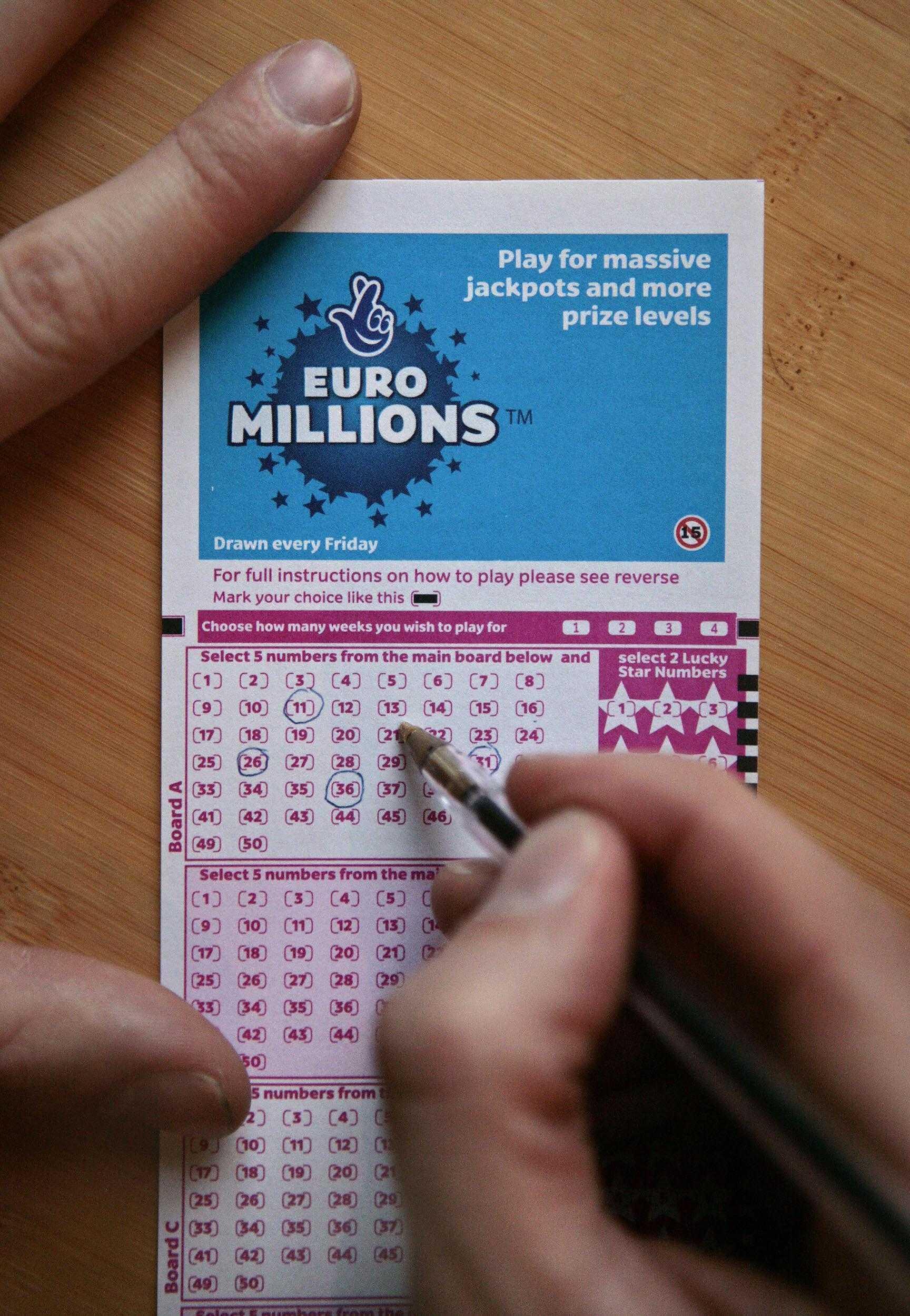 Thay đổi đối với euromillions