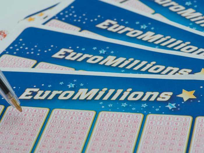 EuroMillions lotterieresultater på det officielle euromillions websted