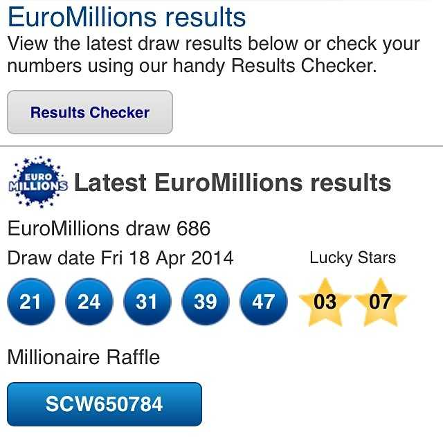 The latest austria euromillions results | lottosmile