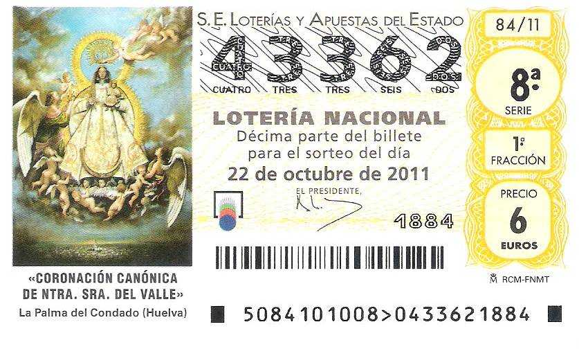 Spanyol lottó el gordo (5 из 54 + 1 nak,-nek 10)