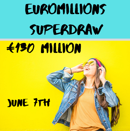 The official website of euromillions announced superdraw