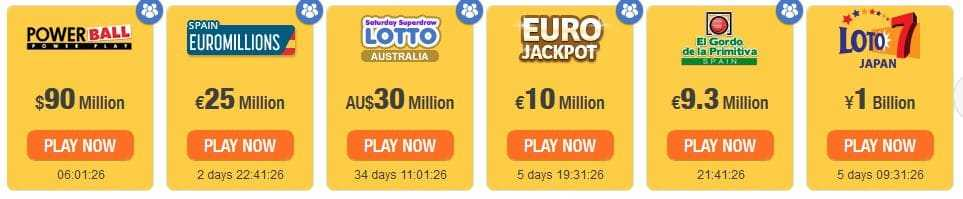 Lotto australiano powerball (7 из 35 + 1 di 20)