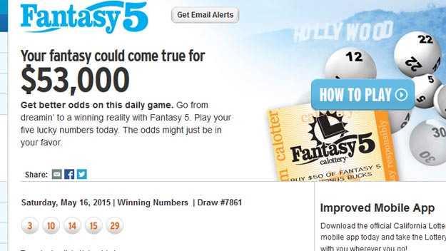 Калифорнийская лотерея fantasy 5