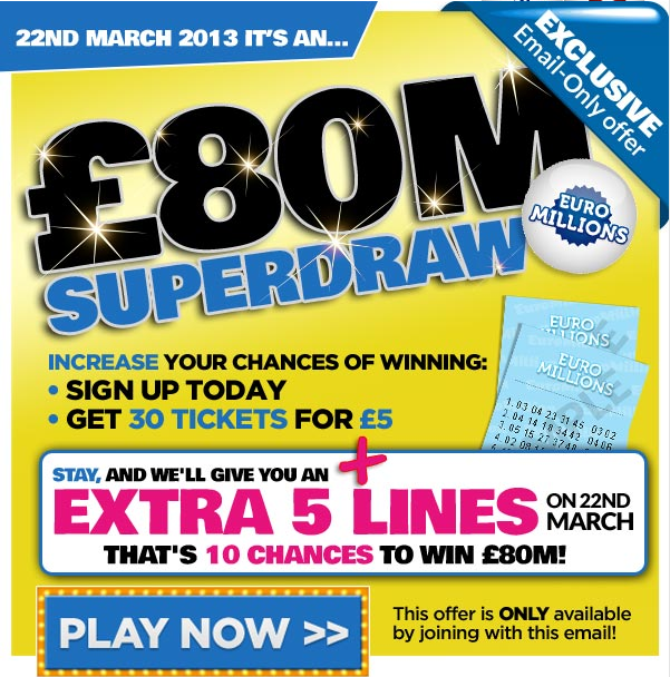 Euromillions – official site announced next superdraw