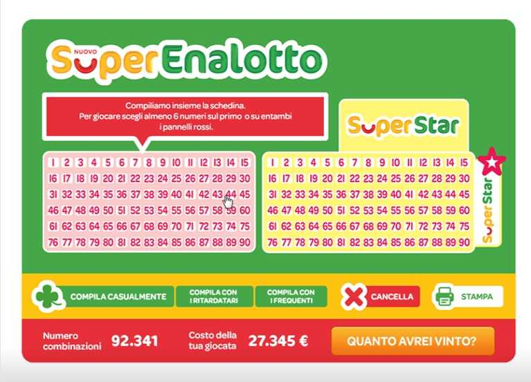 Italian superenalotto | italian lottery | play online
