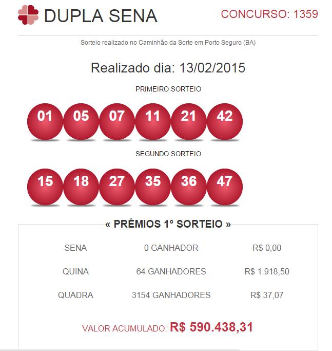 Loterie brésilienne Lotofacil (15 de 25)